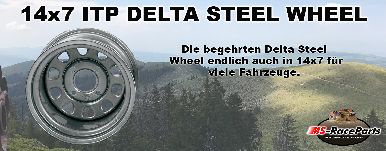 ITP Delta Steel Wheel 14x7 Stahlfelgen ATV